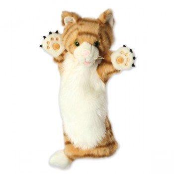 Marionnette Chat roux à longue manche