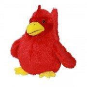 Marionnette enfant à main Poule rouge 25cm