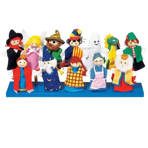 12 marionnettes doigts personnages f rique t te en bois 11cm marionnettes enfants. Black Bedroom Furniture Sets. Home Design Ideas