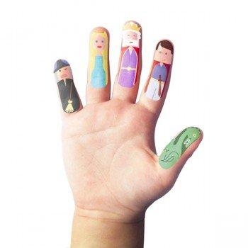 Marionnette à doigts Tatouage personnages féériques, pack de 20
