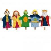 """5 Marionnettes à doigts """"Le Roi des grenouilles"""""""