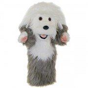 Marionnette à main Chien de berger Bobtail à longue manche