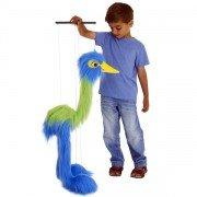 Marionnette à fils géante Oiseau Bleu et Vert 100cm