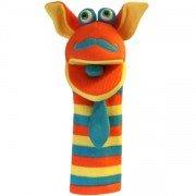 Marionnette chaussettes à bras Kitty 40cm.
