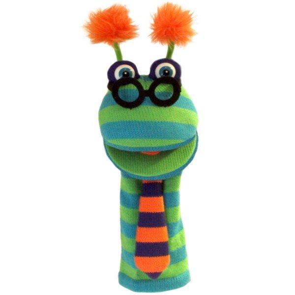 Top Grande marionnette chaussette à bras Binocle, 40cm RY32