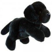 Marionnette enfant à main Chien Labrador noir 30cm
