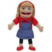 Marionnette Personnage Fille Blonde, 40cm