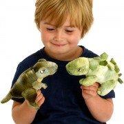 Peluche ventriloque dinosaure