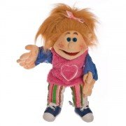Marionnette Mathilde, fillette aux yeux bleues ! 35cm