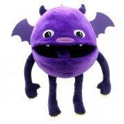 Marionnette avec couineur bébé Monstre chauve-souris violet