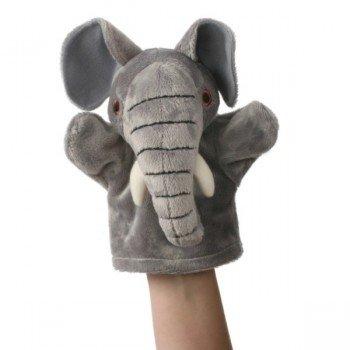 Doudou Marionnette à main Bébé Eléphant