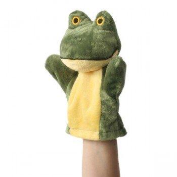 Marionnette colorée à main pour Bébé Grenouille  verte