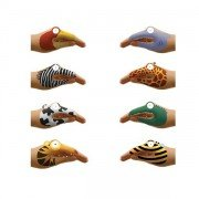 Marionnette Tatouage pour main animaux, pack de 8