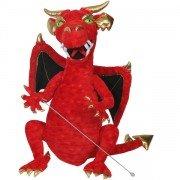 Géante Marionnette Dragon vert avec bouche articulée