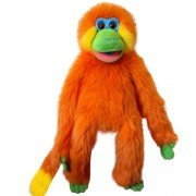 Marionnette Singe Orange de 55cm