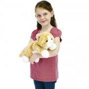 Marionnette enfant à main chien Border Collie 30cm