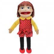 Grande Marionnette Fille Blanche, 60cm