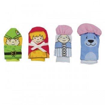 4 marionnettes doigts tissus le petit chaperon rouge 7cm marionnettes enfants. Black Bedroom Furniture Sets. Home Design Ideas
