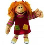 Marionnette fille Lila, fillette aux chaussures jaunes ! 45cm